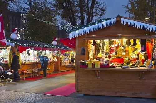 Christmas market Bergamo, Italy